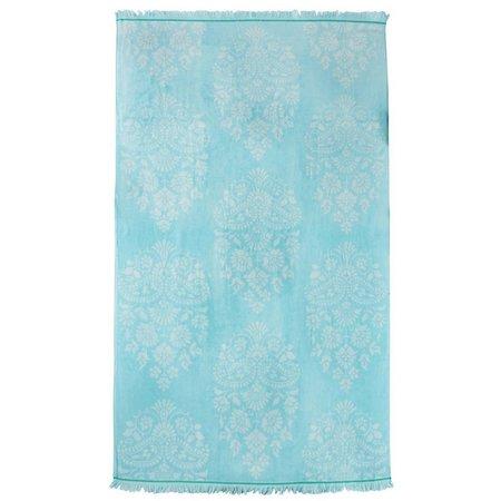Caro Home Turquoise Pashmina Beach Towel
