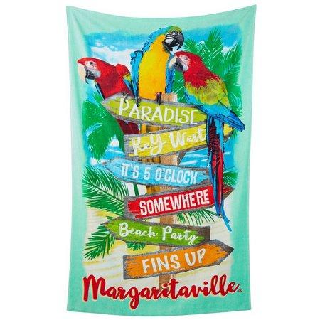 Margaritaville Jacquard Parrot Beach Towel