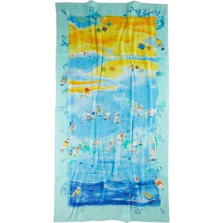 Amber Moran Florida Sandbar Beach Towel