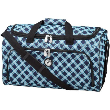 Leisure Luggage 20'' Lafayette Navy Lattice Duffel Bag