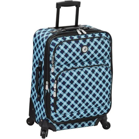 Leisure Luggage 21'' Lafayette Navy Lattice Spinner Luggage