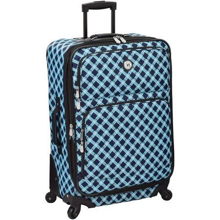 Leisure Luggage 25'' Lafayette Navy Lattice Spinner Luggage