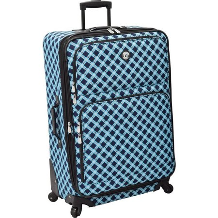 Leisure Luggage 29'' Lafayette Navy Lattice Spinner Luggage