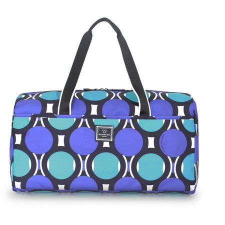 French West Indies Teal Dot Duffel Bag