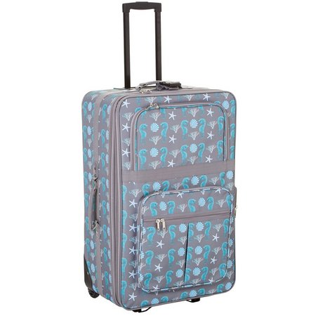 April Fashion Island 24'' Seahorse Serenade Upright Luggage