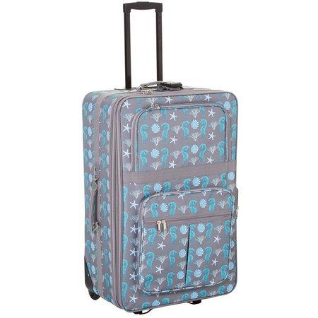 April Fashion Island 28'' Seahorse Serenade Upright Luggage