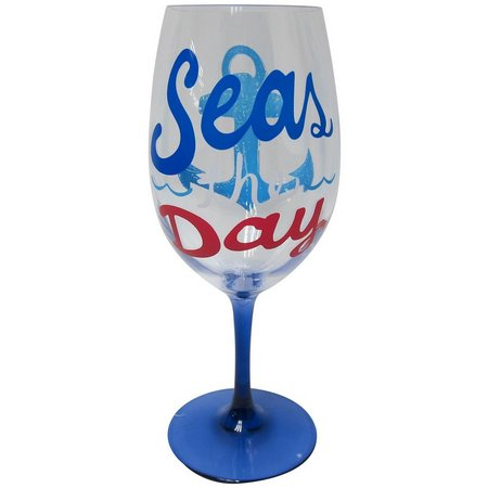 Tropix 20 oz. Seas The Day Wine Goblet
