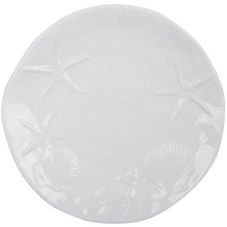 Coastal Home White Embossed Salad Plate