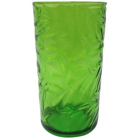 Tropix Embossed Leaf Highball Glass