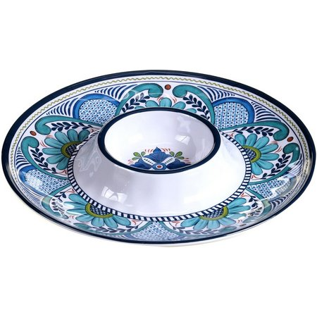 Certified International Talavera Chip & Dip Plate
