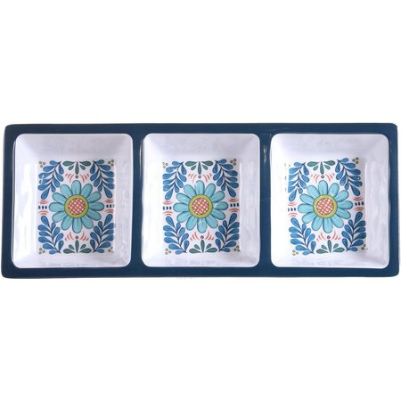 Certified International Talavera 3 Section Tray