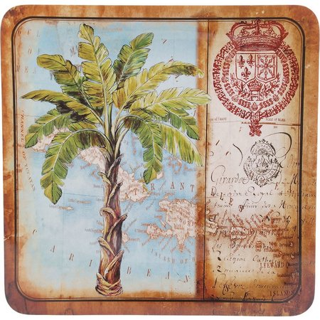 Certified International Palm Square Platter