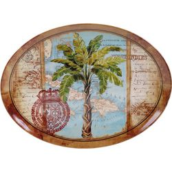 Certified International Palm Oval Platter