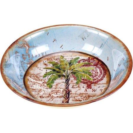 Certified International Palm Serving Bowl