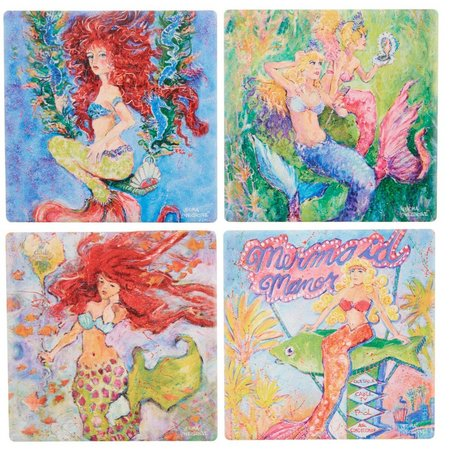 Leoma Lovegrove 4-pc. Mermaid Coaster Set