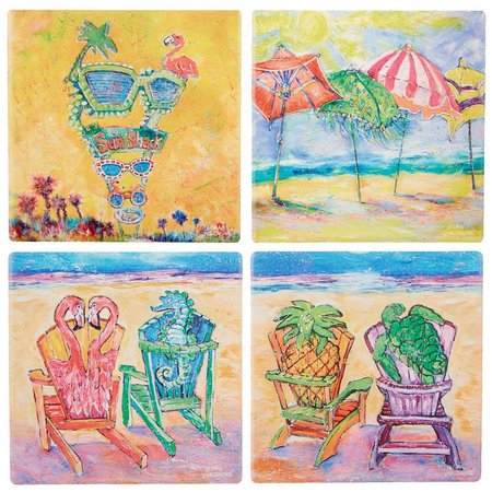 Leoma Lovegrove 4-pc. Beach Coaster Set