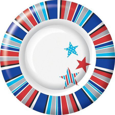 Boston International 8-pk. 8'' Patriotic Plates