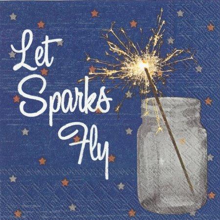 Boston International 20-pk. Sparks Fly Napkins