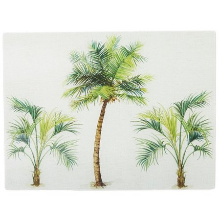 Coastal Home Large Palm Tree Glass Cutting Board