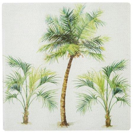 Coastal Home Palm Tree Tempered Glass Trivet