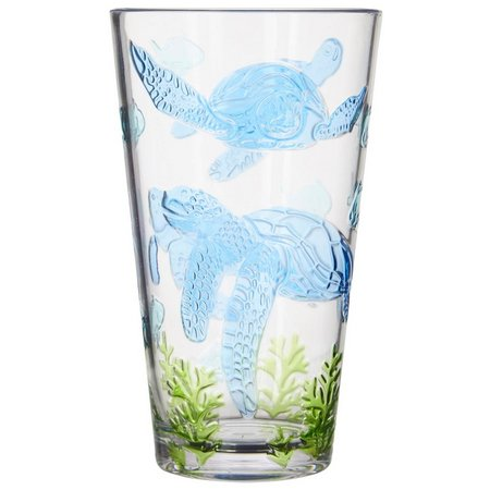 Coastal Home Seaventure Embossed Turtle Highball Glass
