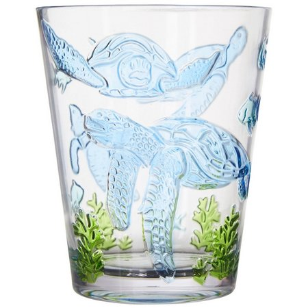 Coastal Home Seaventure Embossed Turtle DOF Glass