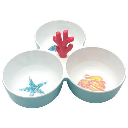 Coastal Home Aquatica 3 Section Bowl With Handle
