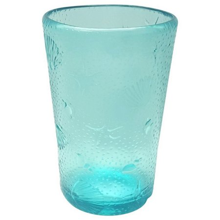 Coastal Home Aquatica Embossed Highball Glass
