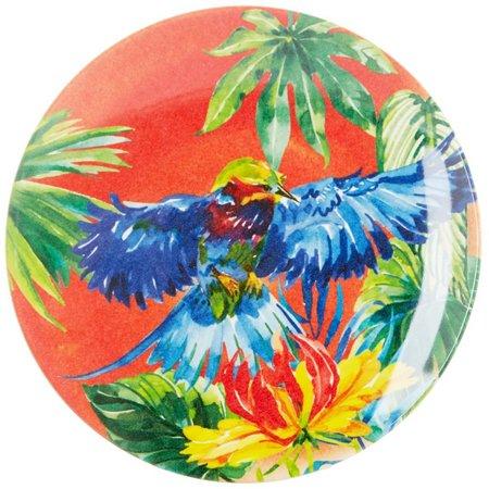 Coastal Home Tropical Birds Orange Appetizer Plate