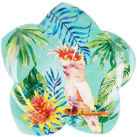 Coastal Home Tropical Birds Flower Plate