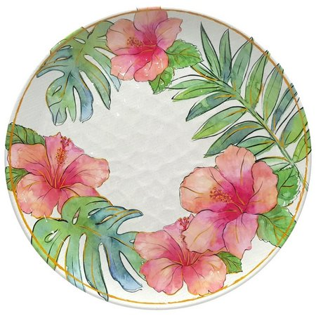 Coastal Home Flamingle Hibiscus Dinner Plate