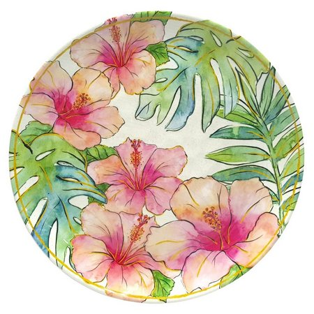 Coastal Home Flamingle Hibiscus Salad Plate