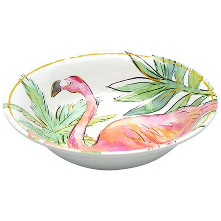 Coastal Home Flamingle Flamingo Cereal Bowl