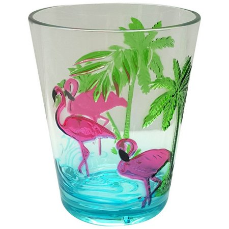 Coastal Home Flamingle Flamingo Etched DOF Glass