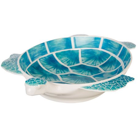 Coastal Home Sea Life Turtle Serving Bowl