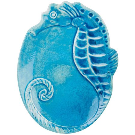 Coastal Home Sea Life Seahorse Serving Platter
