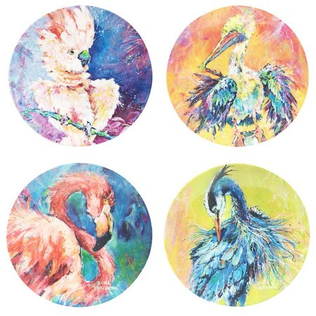 Leoma Lovegrove 4-pc. Birds Appetizer Plate Set