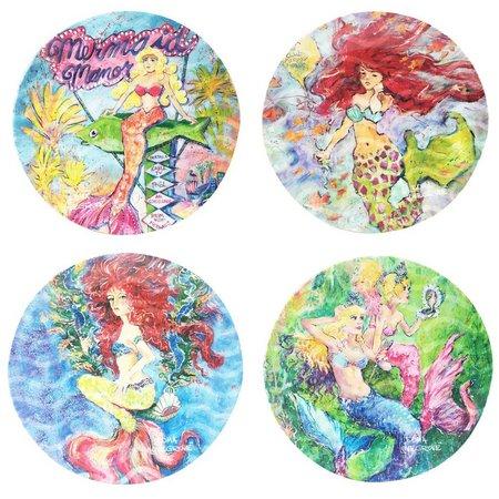 Leoma Lovegrove 4-pc. Mermaid Appetizer Plate Set