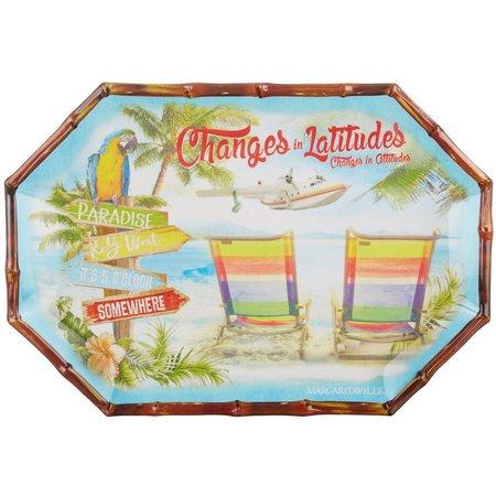 Margaritaville Parrot Platter