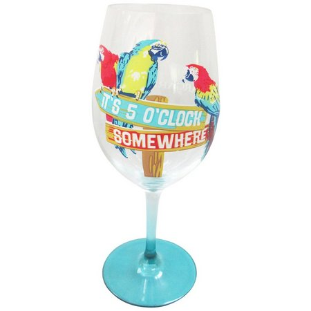 Margaritaville 5 O'Clock Parrot Wine Glass