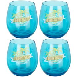 Margaritaville 4-pk. Palm Stemless Wine Glasses