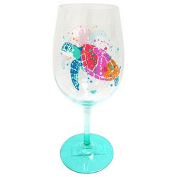 Tropix Splash Sea Turtle Wine Glass