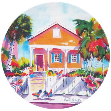 Ellen Negley Key West Calico Dinner Plate
