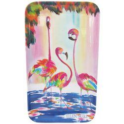 Ellen Negley Funky Flamingos Tidbit Tray