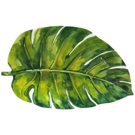 Coastal Home Palm Leaf Oblong Platter