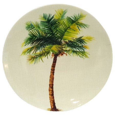 Coastal Home Palm Tree Appetizer Plate