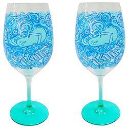 Tropix 2-pc. Flip Flop Wine Goblet Set