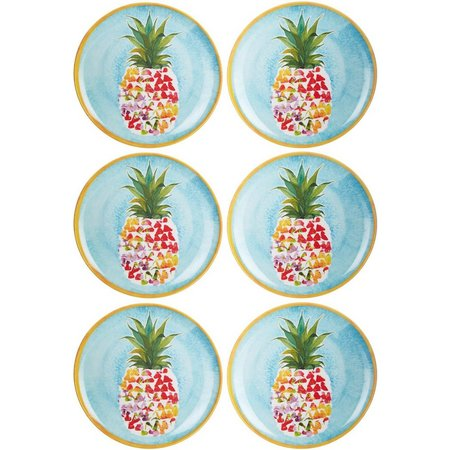 Coastal Home 6-pc. Pineapple Appetizer Plates