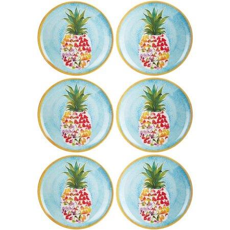 Coastal Home 6-pc. Pineapple Appetizer Plates