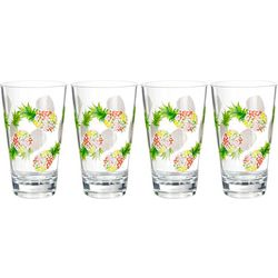 Coastal Home 4-pc. Pineapple Highball Glass Set